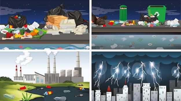 Набор загрязненных сцен