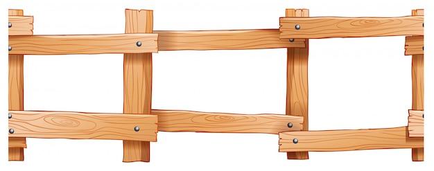 シームレスな木製フェンスのデザイン