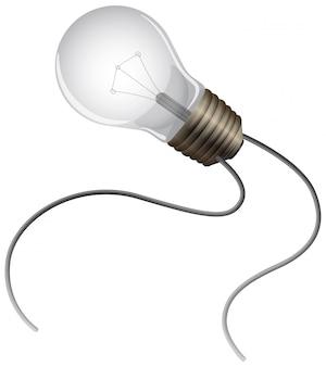 Одна лампочка на белом фоне