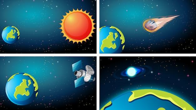 さまざまな宇宙シーンのセット