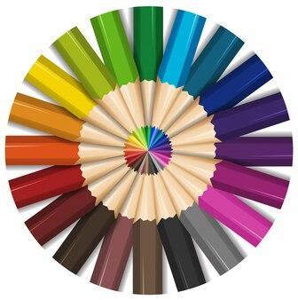 Цветные карандаши с острыми точками