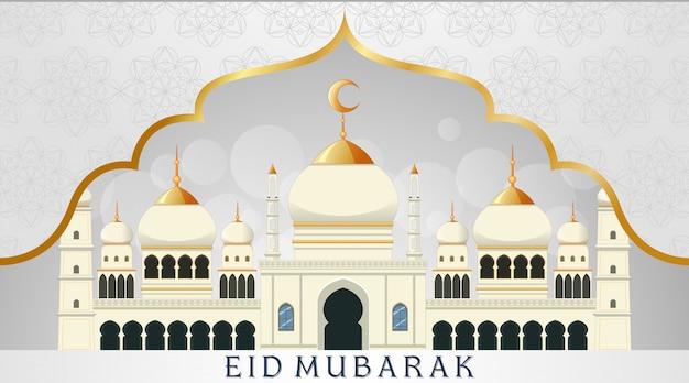 イスラム教徒の祭りイードムバラクの背景デザイン