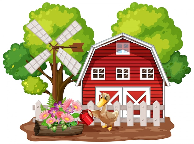 Ферма тема фон с сельскохозяйственными животными