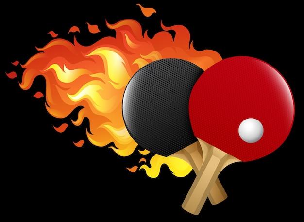 Огненный настольный теннис