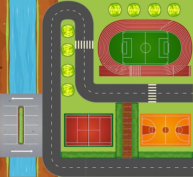 道路やスポーツ施設