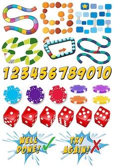 ゲームテンプレートとカジノアイテム