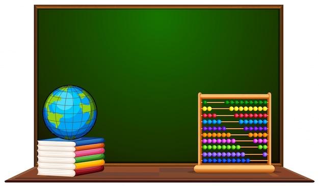 黒板と他の学校のアイテム