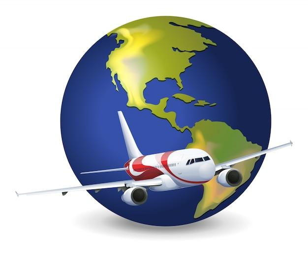 地球の地球と飛行機