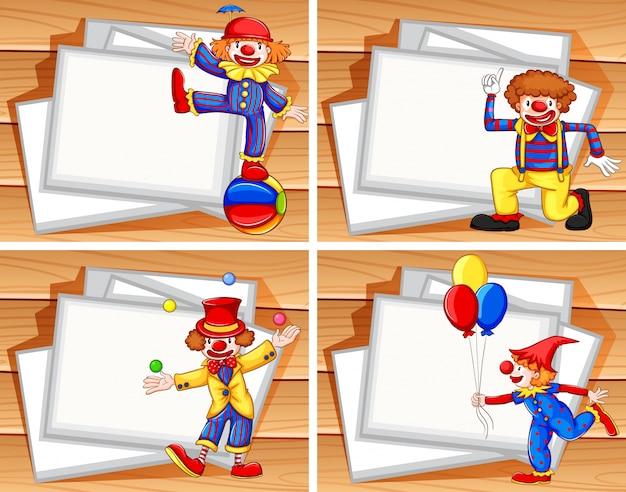 Граница с забавными клоунами