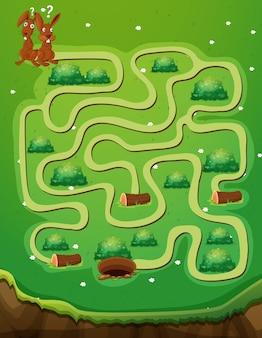 ウサギと穴のあるゲームテンプレート