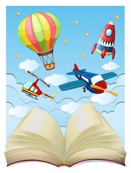 Фон с самолетами в небе