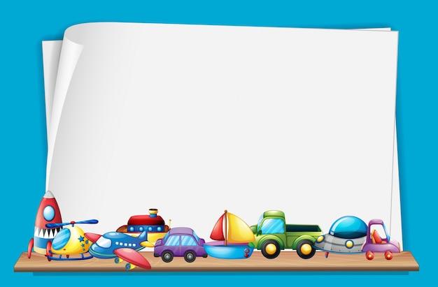 Бумажный шаблон с множеством игрушек