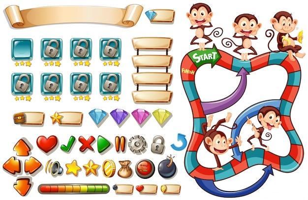 猿のゲームテンプレート