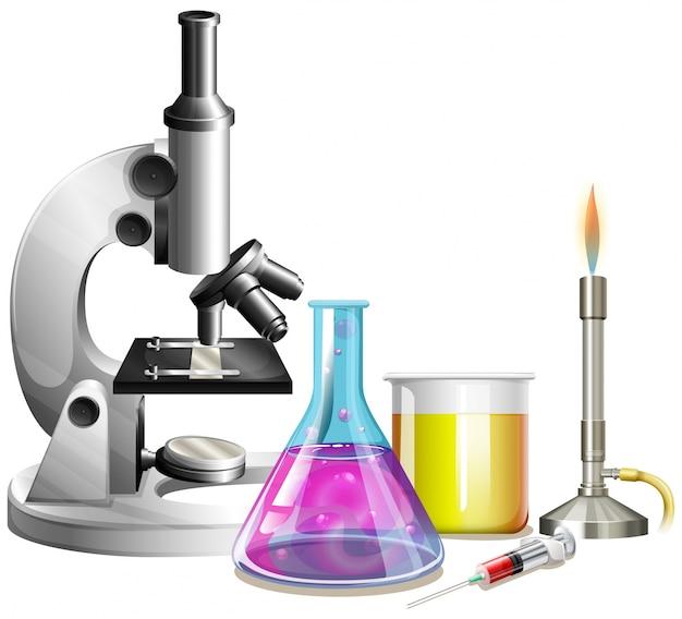 液体を含む顕微鏡およびビーカー
