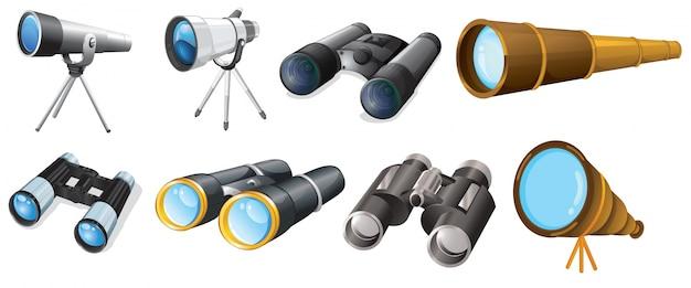 異なる望遠鏡の設計