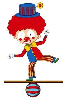 Цирковой клоун, стоящий на балу
