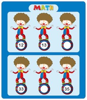 Матричный шаблон с цирковыми клоунами