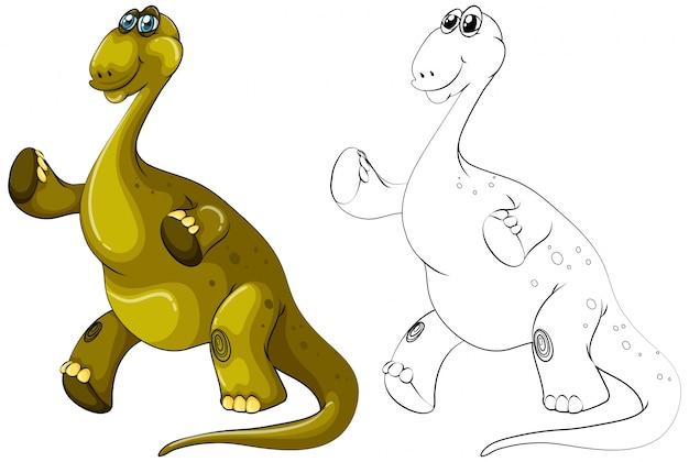 Контур животных для динозавра брахиозавров