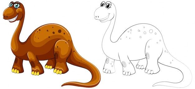 Контуры животных для длинного шеи динозавра