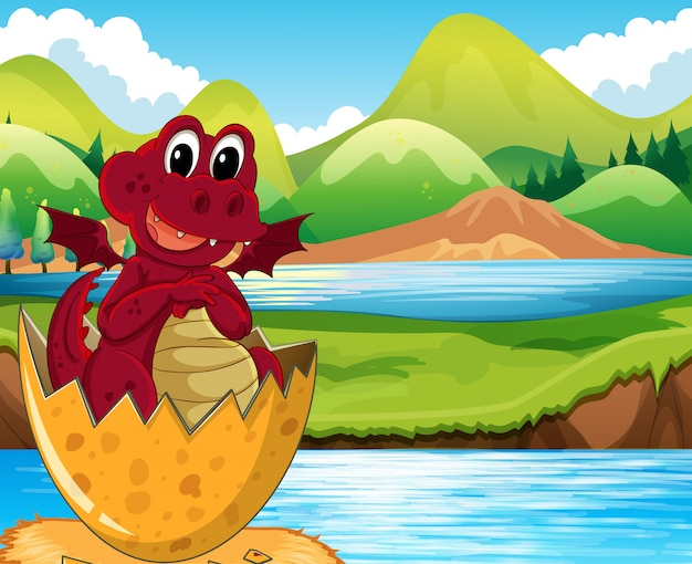Красное драконье инкубационное яйцо