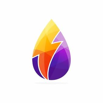Логотип энергии воды