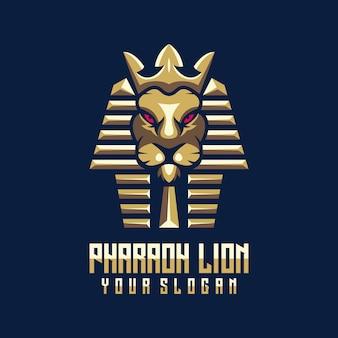 ファラオライオンのロゴのテンプレート