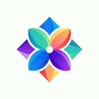 花のロゴのベクトル