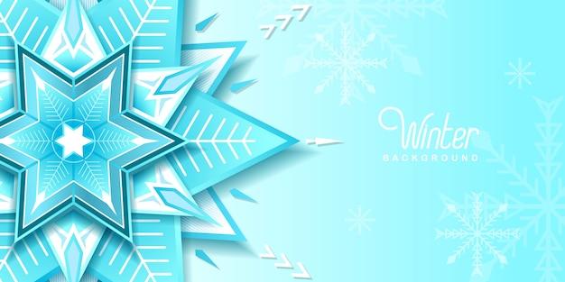Зимний фон со снегом вектор