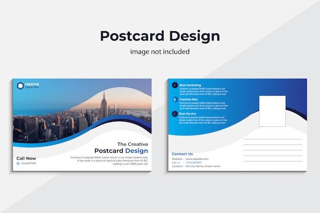 クリエイティブポストカードデザイン