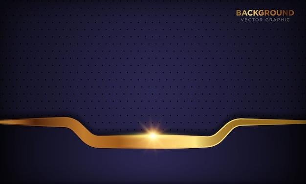 Темная роскошная абстрактная фиолетовая бумага формирует предпосылку с золотой линией украшением. текстура с золотой блестящий свет.