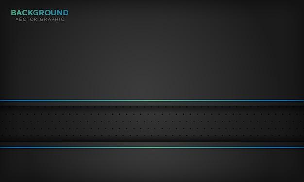 Черный абстрактный фон с синей линией украшения. современная технологическая концепция.