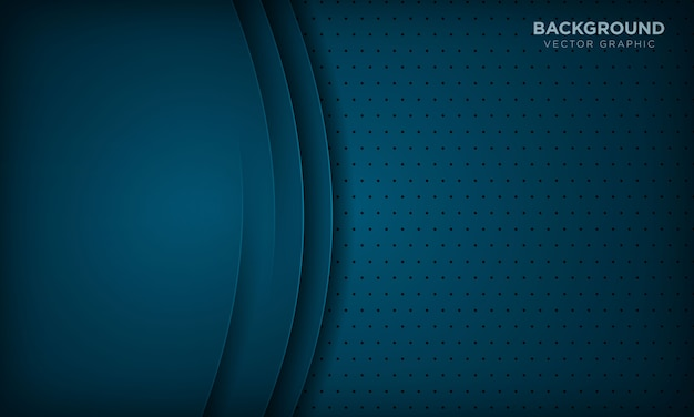 オーバーラップレイヤーと抽象的な暗い青色の背景。