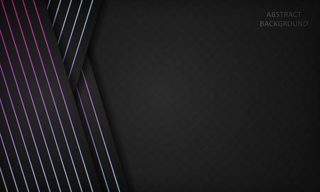 Темный абстрактный фон с градиентом геометрической линии элемента украшения.