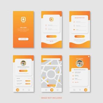 Дизайн мобильных приложений с градиентом цвета премиум вектор