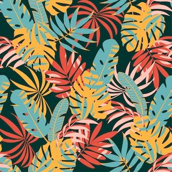 Тропические листья и растения