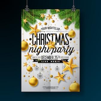 クリスマスパーティーフライヤーデザイン