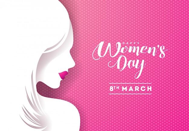 Счастливый женский день цветочный дизайн поздравительной открытки