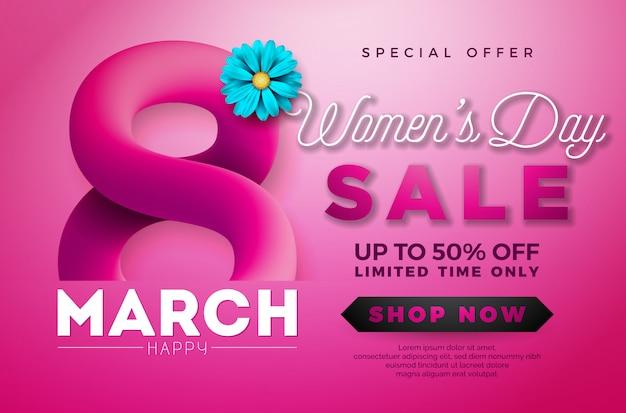 Женский день продажи дизайн