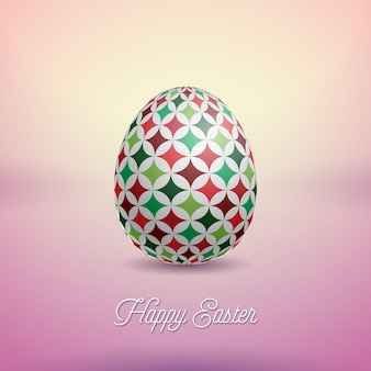 塗られた卵とハッピーイースターの休日のベクトルイラスト