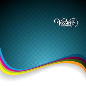 透明な背景に抽象的なベクトルの波のデザイン。