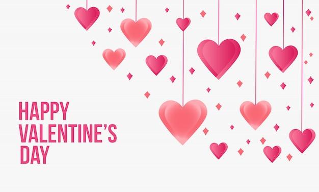 ぶら下がっている心とバレンタインカード