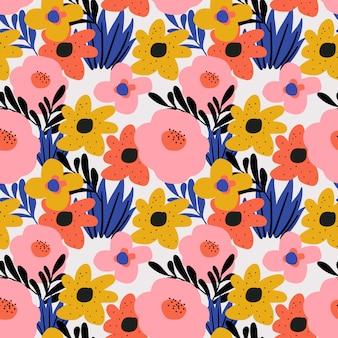 Модный цветочный цветок бесшовный фон