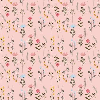 花のシームレスな花柄の背景