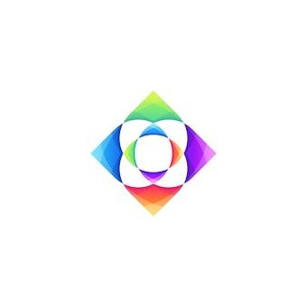 カラフルなロゴのテンプレート