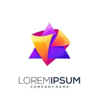 Треугольный дизайн логотипа
