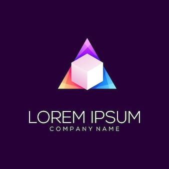 Абстрактный шаблон логотипа треугольник