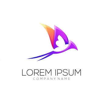 Ласточка логотип абстрактный