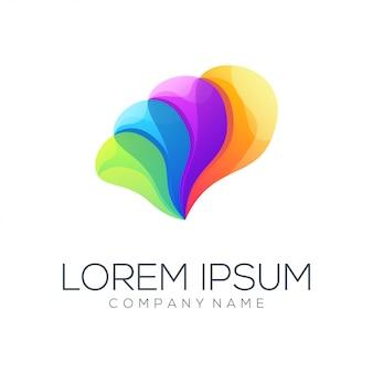 色の完全な抽象的なロゴデザインのベクトル