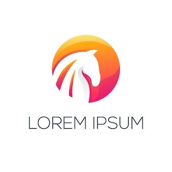 Абстрактный логотип лошади