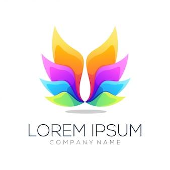 Лотос логотип абстрактный